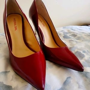 Cute Material Girl Size 6 Red 4 Inch Heels